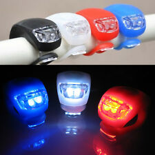 2X Cycling Bike Bicycle Silicone Frog Light LED Front /Rear Safety Warning Lamp.