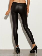 GUESS Leggings Patty Liquid BLACK Guess Faux Leather Skin Tight Pants XSmall
