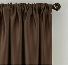"*Royal Velvet Plaza Lined Blackout Rod-Pocket Curtain Panel 50""Wx95""L Brown NEW"