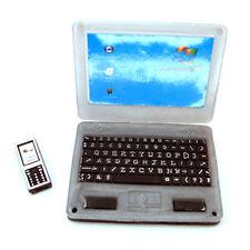 Puppenhaus Notebook Laptop & Handy Masstab 1:12 Miniatur Telefon Mobiltelefon