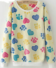 SUPER SOFT! Warm Fuzzy Furry ANIMAL SWEATER Shirt Top Cuffs BUY ANY 4 GET 1 FREE