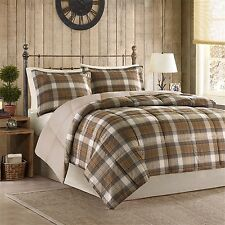 Woolrich Lumberjack Down Alt Mini Comforter Set Full/Queen Multicolor Multi New