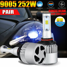 2x9005 252W 25200LM PHILIPS LED Headlight Kit Single Beam Bulbs High Power 6500K