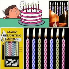10pcs/set Magic Birthday Cake Toy Rekindle Tricky Eternal Blowing Candles Decor