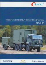STAR 266K 6x6 WITH TRAILER 2016 CENREX POLISH ARMY MILITARY BROCHURE PROSPEKT