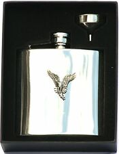 Ospray 6 oz Hip Flask Personalised Falconry Gift Boxed FREE ENGRAVING