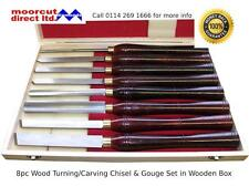 Wood Turning/Carving Lathe Chisel & Gouge Set 8pc in Wooden Box
