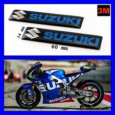 SUZUKI 3D Sticker Adhesive Alloy Motorcycle Emblem 3M Decal Badge Tank Logo 2pcs