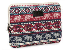 "Elephant 15 inch Computer Sleeve Case Canvas 15.4"" 15.6"" Laptop Bag Pouch For HP"