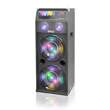"Pyle PSUFM1040 1000W 10"" Dual Passive DJ Speaker System W/Flashing DJ Lights"