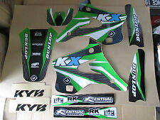 FLU  DESIGNS KAWASAKI TEAM  GRAPHICS KX  KX125 KX250 1994 1995 1996 1997 1998