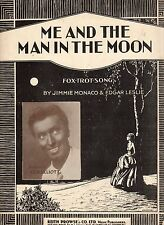 Me And The Man In The Moon - Music Sheet 1928 / G H Elliot