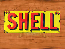 "TIN-UPS TIN SIGN ""Classic Shell Logo""  Motor Gas Car Petrol Vintage Wall Decor"