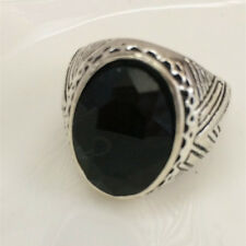 Hot Vintage woman 316L Stainless Steel Vogue Design Mini Stone Ring Size 10 ! %