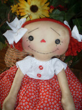 Primitive Raggedy Ann style Button Eyed Annie Kats Country Prims Pattern #154