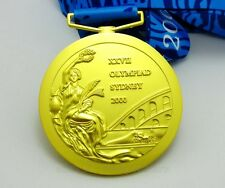 SYDNEY 2000 OLYMPIC GOLD MEDAL WITH RIBBON 1:1 FULL SIZE SOUVENIR