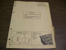 12123 John Deere Parts Catalog PC-612 Spreader W series dated 7 64