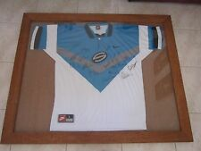 CRONULLA SHARKS SUPER LEAGUE SIGNED AND FRAMED JERSEY SIZE LARGE PICK UP ONLY