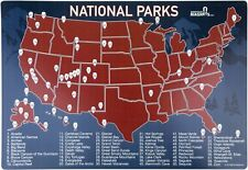 America/USA National Parks Map Fridge Magnet Fun Way To Track Your Travels!