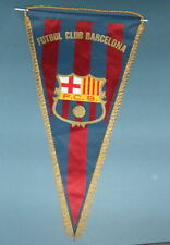 Vintage Pennant Banderin Soccer Futbol Club Barcelona Flag Sports Spain