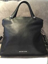100% Authentic Michael Kors Black Leather Sling Handbag with Dust Bag