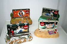 COCA COLA musical Banca Set Four Seasons! collectible # cb03012, 03721,01020,05768