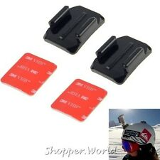 2pcs Curved Surface Mounts with 2x 3M Adhesive Pads for Gopro / Sjcam / Xiaomi