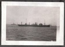 VINTAGE 1928 LOS ANGELES CALIFORNIA SAN PEDRO BREAKWATER CARGO SHIPS OLD PHOTO