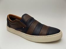 Tommy Hilfiger Men's Size 7.5 M Mustang 2 Navy Brown Loafers Slip On Shoes D2271
