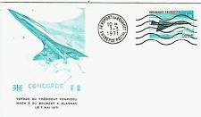 FDC-SUPERSONIQUE-CONCORDE-AIR FRANCE-LE BOURGET-BLAGNAC-PRÉSIDENT POMPIDOU-1971