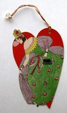 Vintage Bridge Tally Heart w/ Woman and Masquerade Mask