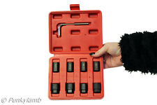 Damaged Bolt Nut Screw Stud Remover Extractor Set Without Damaging Threads Tool