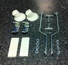 VESPA LAMRETTA WHITE FRONT CARRIER FIXING KIT FRONT RACK
