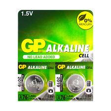 2 x GP Alkaline A76 LR44 batteries 1.5V AG13 303 357 V13GA L1154 SR44 EXP:2019