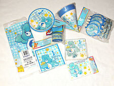 NEW CARE BEARS 1st  BIRTHDAY BOY  1- 8 PCS. PARTY SET-   PARTY SUPPLIES