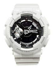 Casio GMAS110CW-7A1 G-Shock Black Analog Digital Dial White Resin Band Watch New