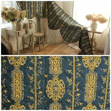 Antique 18th century valance Indigo blue French textile quilted bed hanging