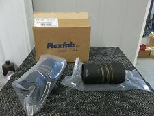 "2 FLEXFAB AIRCRAFT SURPLUS MILITARY FLEXIBLE AIR DUCT HOSE 6"" LONG 3"" ACROSS NEW"