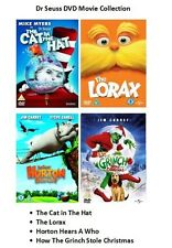 DR SEUSS DVD MOVIE COLLECTION CAT IN THE HAT LORAX HORTON HEARS A WHO GRINCH New