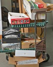 Large Cart Lot of O gauge Freight Cars, Die Cast Tractor and Trailer,... Lot 444