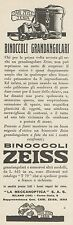 Z3079 Binoccoli grandangolari ZEISS - Pubblicità - 1933 old advertising