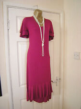 18 COOL VISCOSE BRIGHT DRESS COMFY MAGENTA DAXON PARTY WEDDING CRUISE HOLIDAY