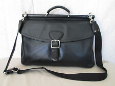Genuine Coach leather business Transatlantic briefcase in black