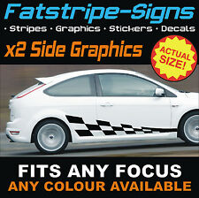 FORD FOCUS ST CAR CHECKER GRAPHICS VINYL STRIPES DECALS STICKERS RS 1.6 2.0