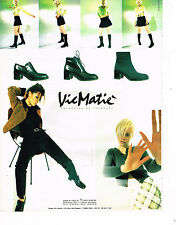 PUBLICITE ADVERTISING 035  1996  VIC MATIE  collection bottes chaussures boots