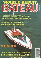 MODELE REDUIT DE BATEAU N°352 COMBINE CHESTER MF 42 A / STINGER / DECO CHALUTIER