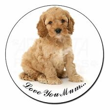 Cockerpoodle Puppy 'Love You Mum' Fridge Magnet Stocking Filler Chr, AD-CP6lymFM