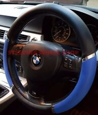 MERCEDES SPRINTER STEERING WHEEL COVER BLACK & BLUE WITH CHROME TRIM  05056