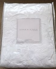 New Sferra Scalloped Floral Coverlet 100% Cotton Matelassé King Solid White