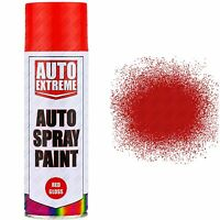 8 x 400ml Red Gloss Spray Paint Aerosol Can Auto Extreme Car Van Bike